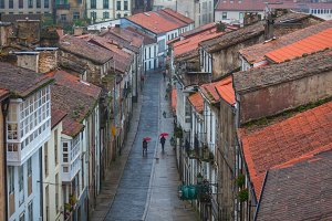 Rainy Street of an Old Town