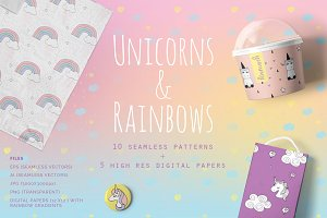 Unicorns & Rainbows Patterns