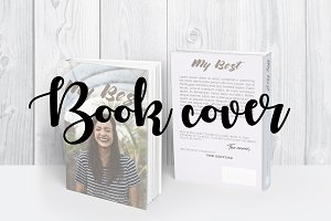 Book template Book cover design
