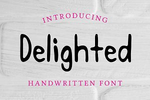 Delighted Handwritten Thick Font