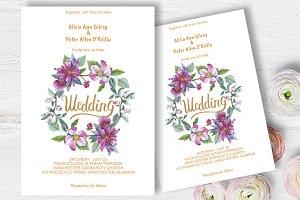 Apple blossom Wedding invitation DiY