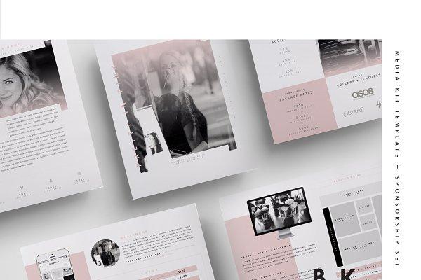 Social Media Kit Template Set | 6Pg…