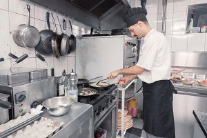chef cooking omelet omelette pans