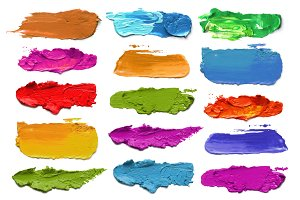 acrylic color brush strokes