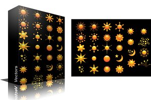 Decorative Sun Vectors