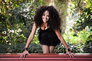 Black woman, afro hairstyle