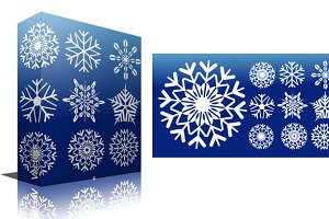 Snowflakes Vectors, PNG & Brushes