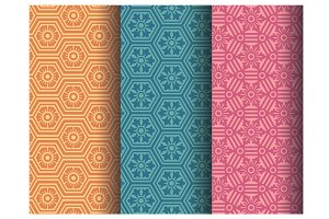 hexagonal patterns set2