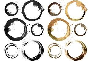 Circle blot design element