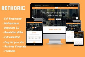 RETHORIC- Multipurpose template