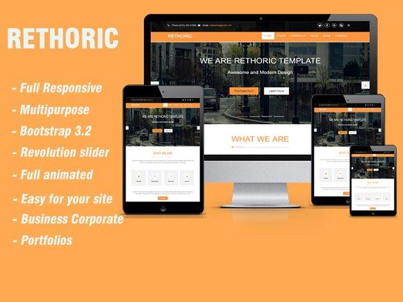 Rethoric Multipurpose Template Website Templates Creative Market