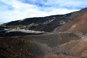 The colors of Mount Etna in Sicily