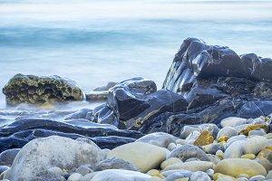 Background of pebble beach