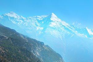 Tibetan road in Himalayan mountains