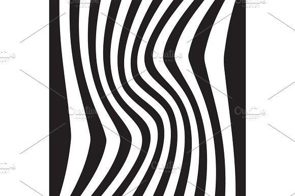 Striped abstract background. black and white zebra print. Vector illustration. eps10