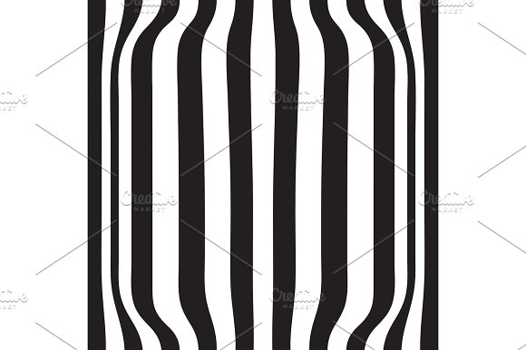 Striped abstract background. black and white zebra print. Vector illustration. eps10 in Illustrations
