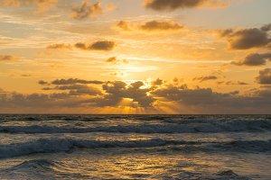 Beautiful sunrise cloudscape