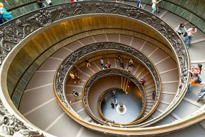 Famous spiral staircase in Vatican