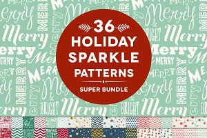 36 Holiday Sparkle Patterns Bundle