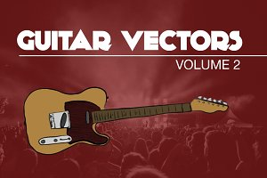 Rock and Roll Guitar Vectors Vol2