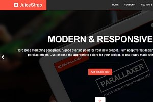 JuiceStrap flat parallax Bootstrap