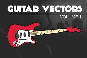 Rock and Roll Guitar Vectors Vol1