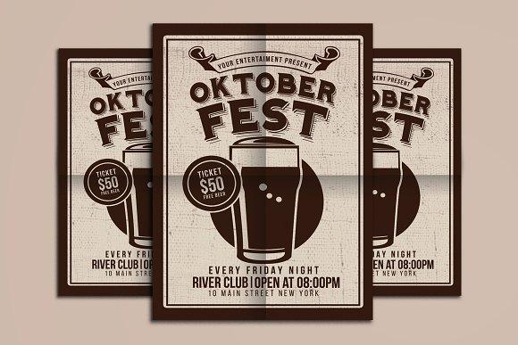 Oktober Fest Beer Party in Flyer Templates