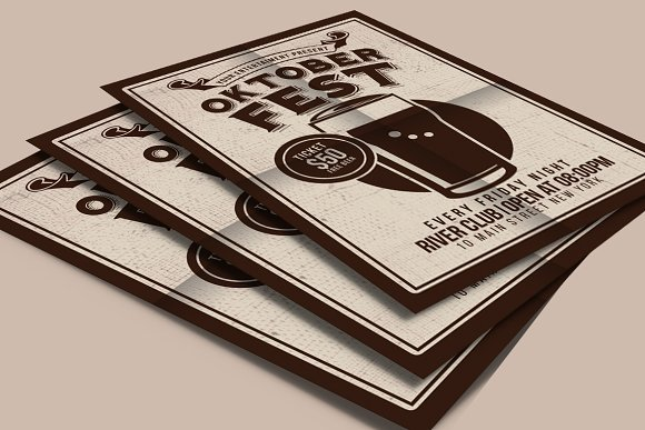 Oktober Fest Beer Party in Flyer Templates - product preview 2