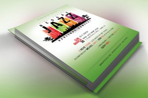 Reggae Jazz Concert Flyer Poster