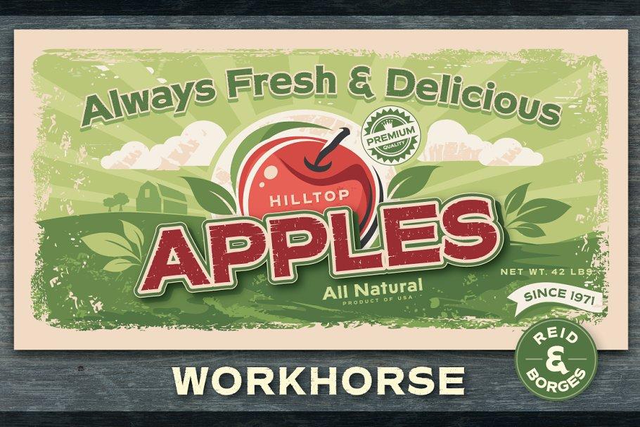 Workhorse Rough ~ Sans Serif Fonts ~ Creative Market