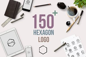 150+ Minimal Hexagon Logo Templates