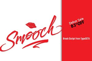 Smooch: 83% Off this Brush Script!