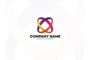 Two circle colorful abstract logo