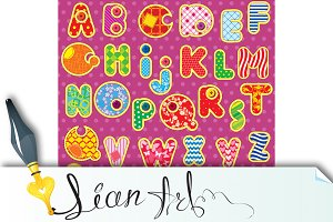 Patchwork ABC alphabet