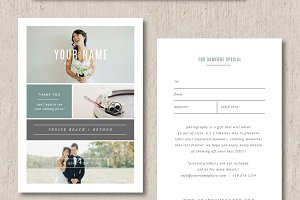 Photographer Gift Card Templates
