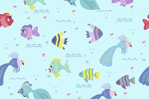 Fish seamless background