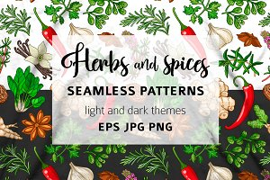 Hot pattern with herbs and spices