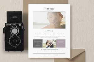 Photographer Flyer Design Template