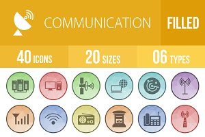 40 Communication Filled LowPoly Icon