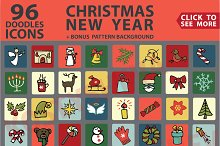 Christmas,New Year colored icons set