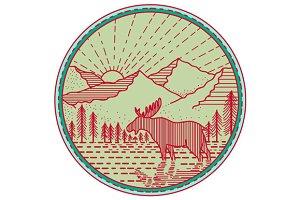 Moose River Mountains Sun Circle