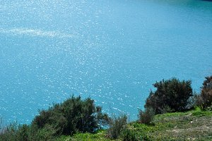 Turquoise blue Water Lake