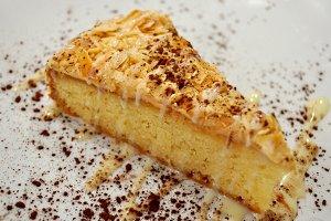 Appetizing almonds cake dessert