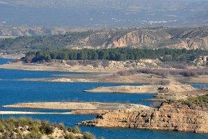 Turquoise water  lake