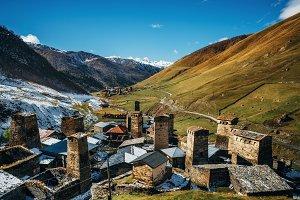 Svan Towers in Ushguli