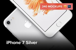 340 iPhone 7 Silver mockups