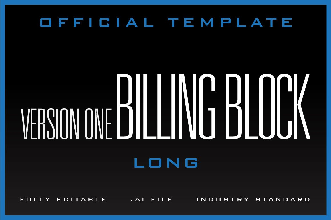 editable movie poster billing block example
