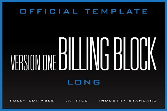 The Billing Block Template V1 Flyer Templates Creative Market