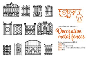 Metal Fences Set