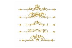 Gold element vector art